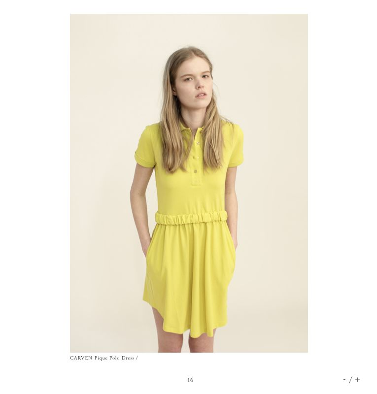 Carven; Pique Polo Dress. Still want you and your peek-a-boo back.