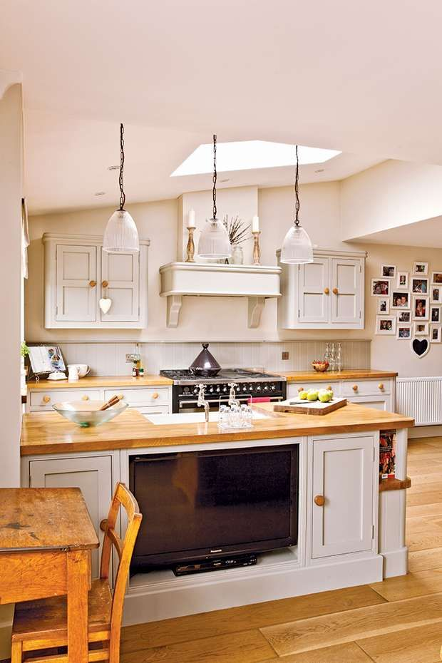 Open Plan Family Kitchen Diner Real Homes Open Plan Kitchen Living Room Kitchen Remodel Small Tiny House Kitchen