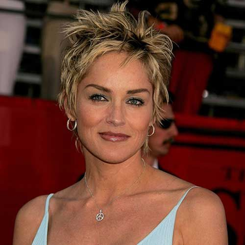 Sharon stone pixie cut sharon stone pinterest for Coupe de cheveux sharone stone