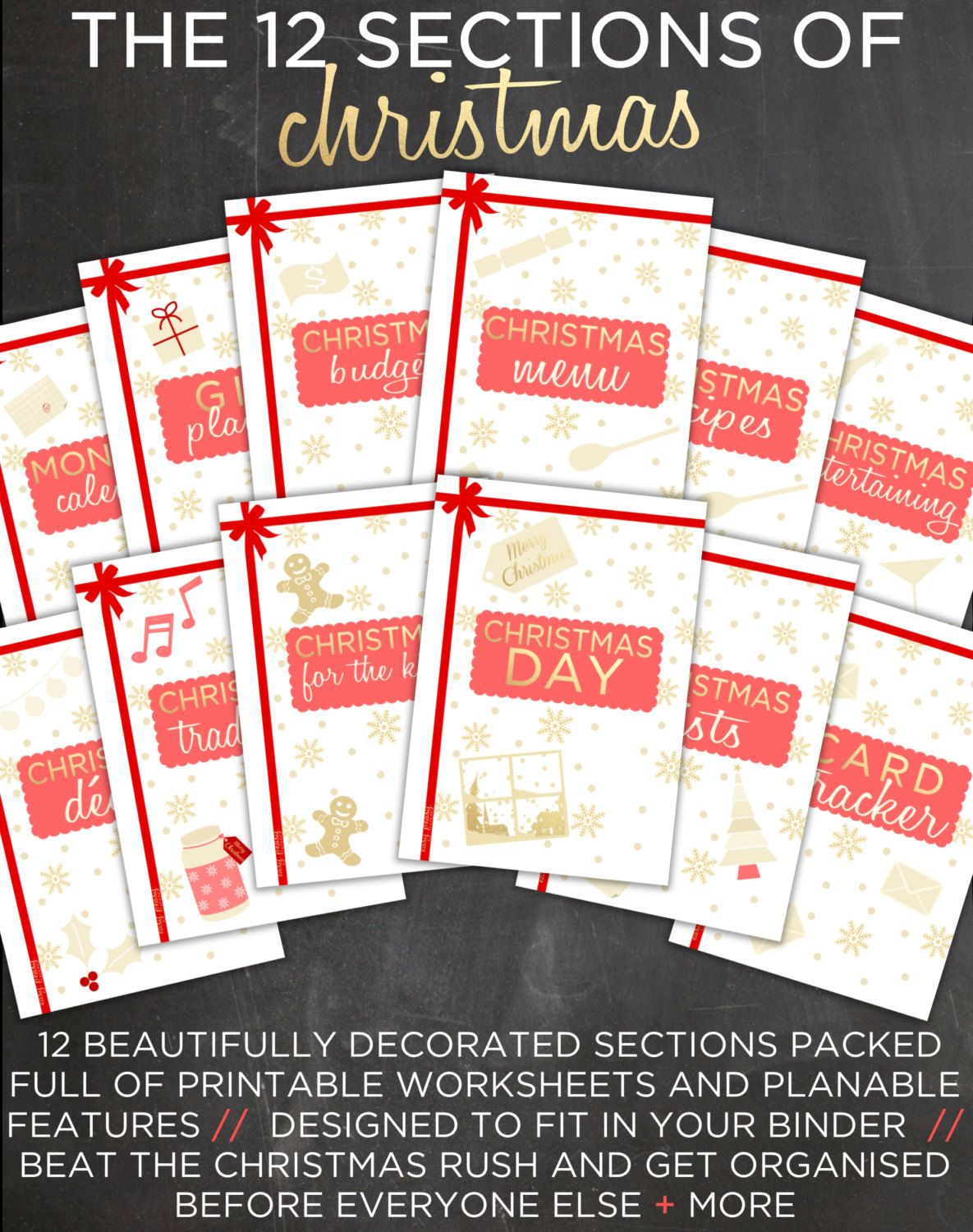 Ultimate Christmas Planner Christmas By Easypeasypaper