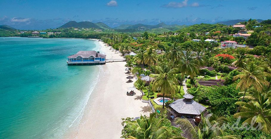 The Sandals Halcyon Beach Is One Of Best Caribbean All Inclusive Resorts For S In St This Resort A More Laid Back And Relaxing Type