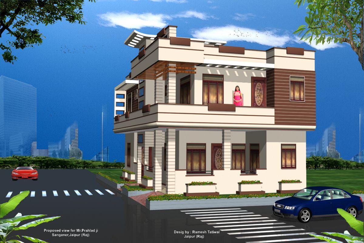 Exterior Home Design 3d Wallpaper Dengan Gambar Desain