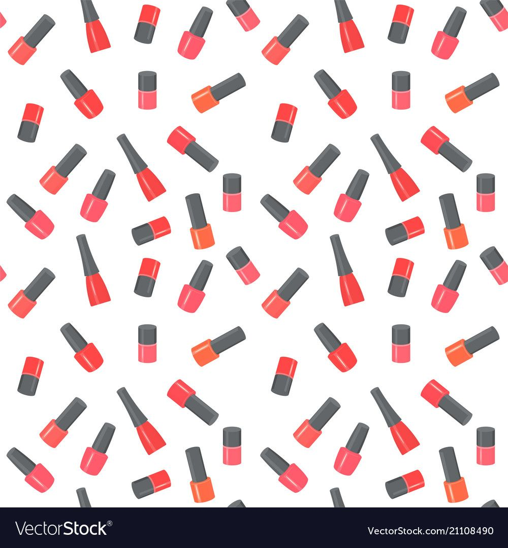 Nail polish bottles seamless pattern vector image on