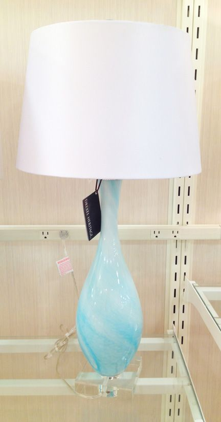Amazing Aqua Blue Glass Table Lamp Home Goods