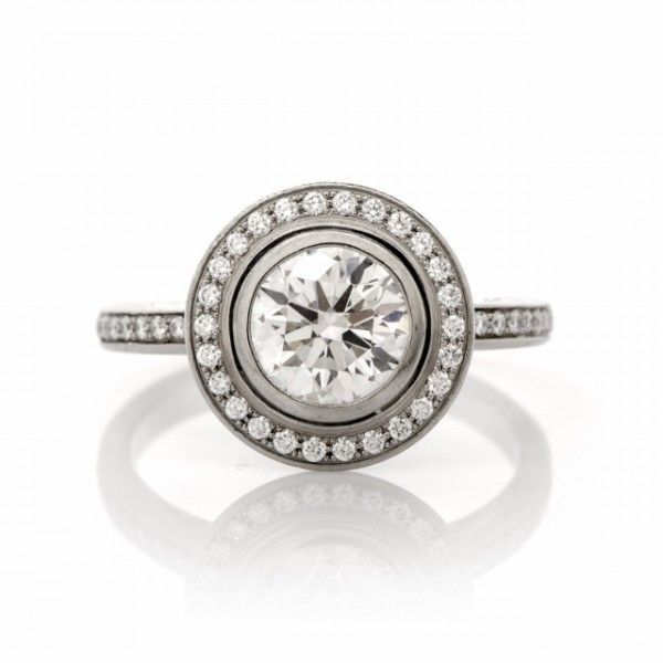 Cartier D Amour Diamond Platinum Engagement Ring Jewlery