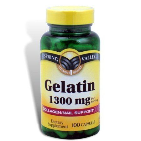 Spring Valley - Gelatin 1300 mg, 100 Capsules-good for sore joints ...
