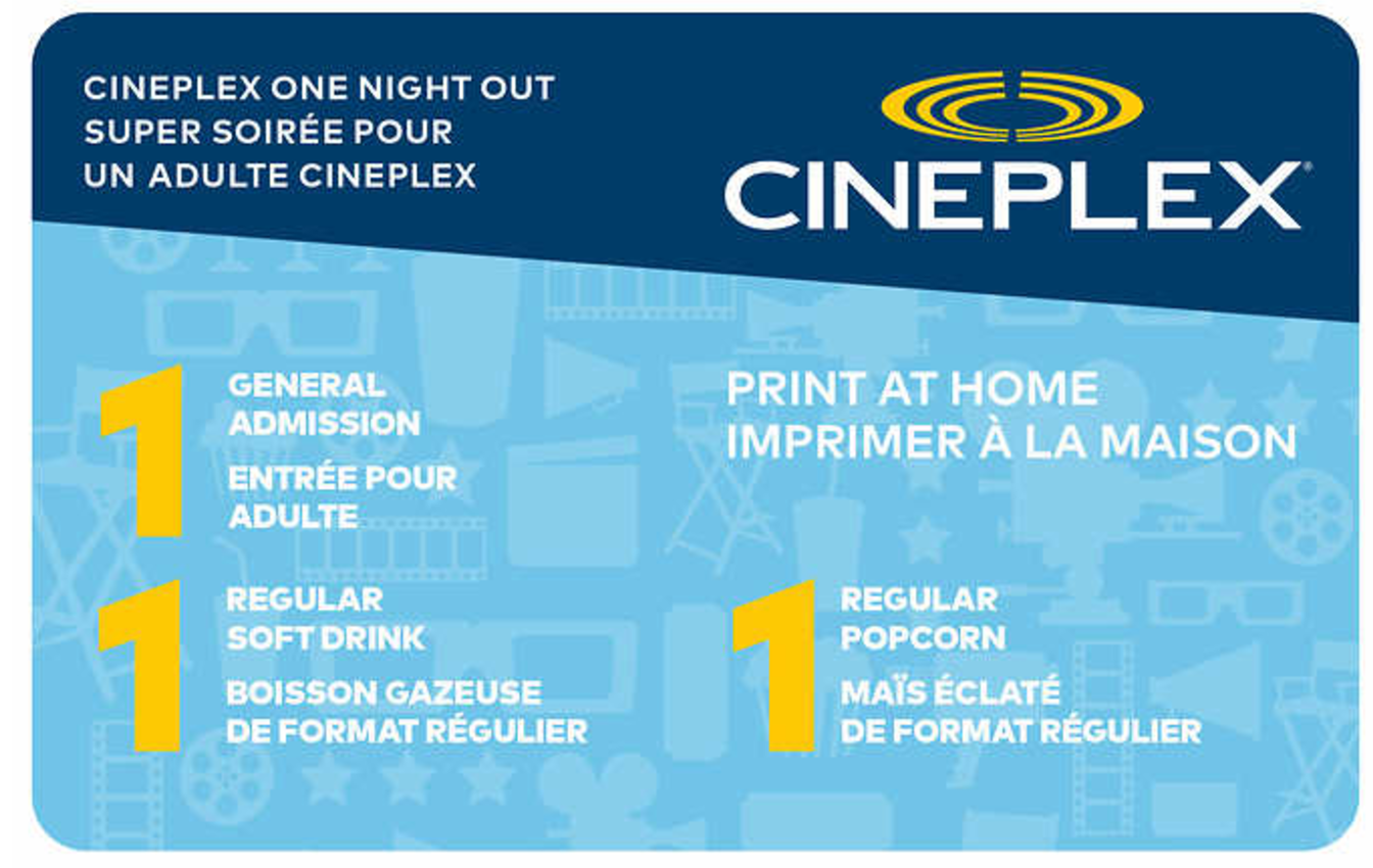 Costco Canada New Cineplex Movie Ticket Packages