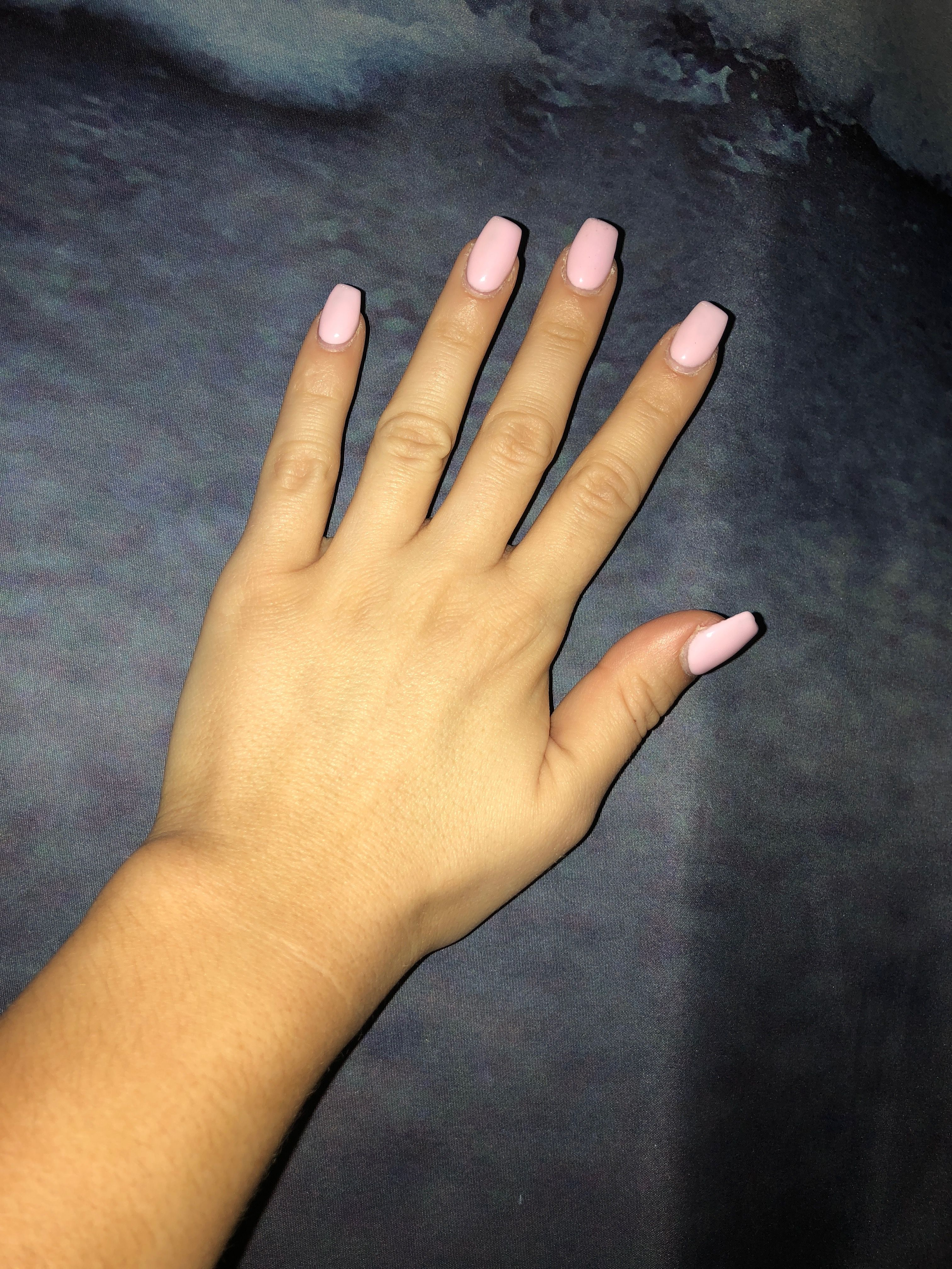 Baby Pink Coffin Acrylic Nails Acrylic Nails Pink In 2019