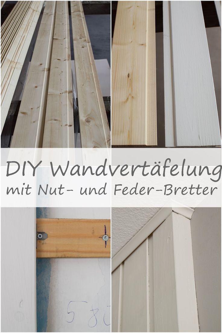 Wandverkleidung Diy Aus Holz Mit Nut Und Federbretter Kreidefarbe Von Painting T Wandverkleidung Holzwandverkleidung Wandvertafelung