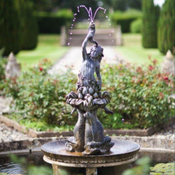 english garden fountain