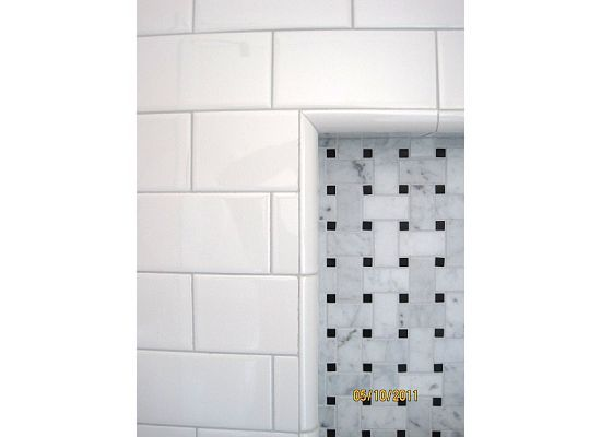 White Tile With Gray Grout Laticrete Spectralock Pro