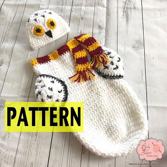 PATTERN ONLY Hedwig Harry Potter Owl Inspired Infant Newborn Baby ...