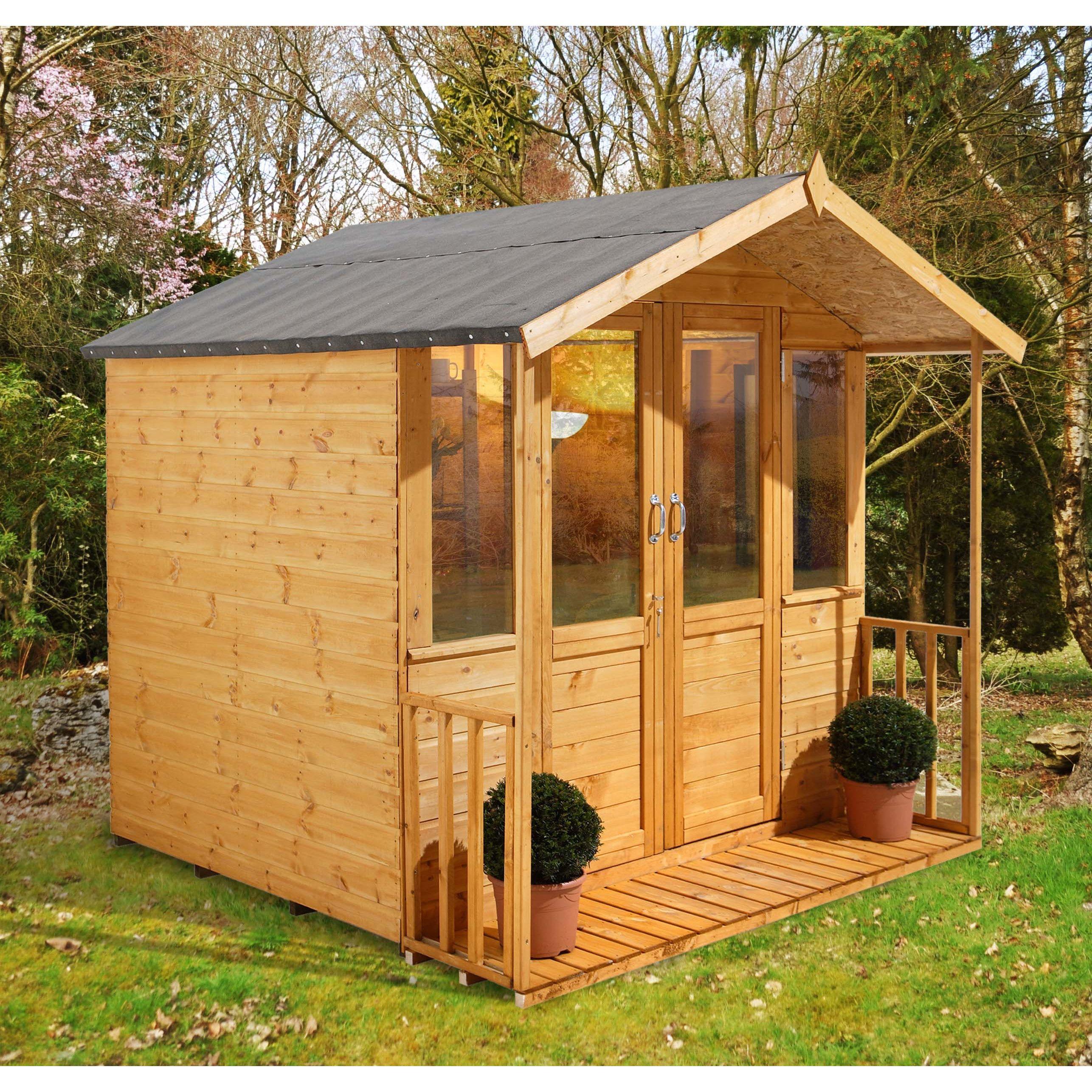 Forest Garden Maplehurst 7 x 7 Ft. Summerhouse   Wayfair ...