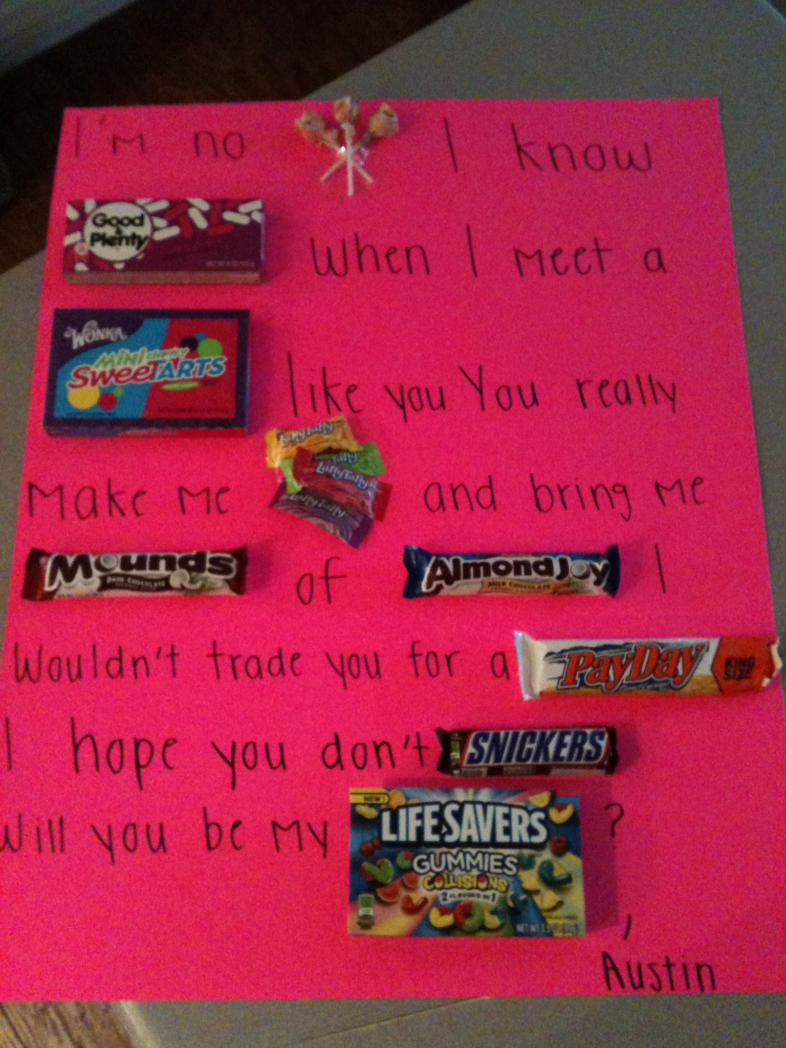 A cute way a guy asked a girl out asking a girl out