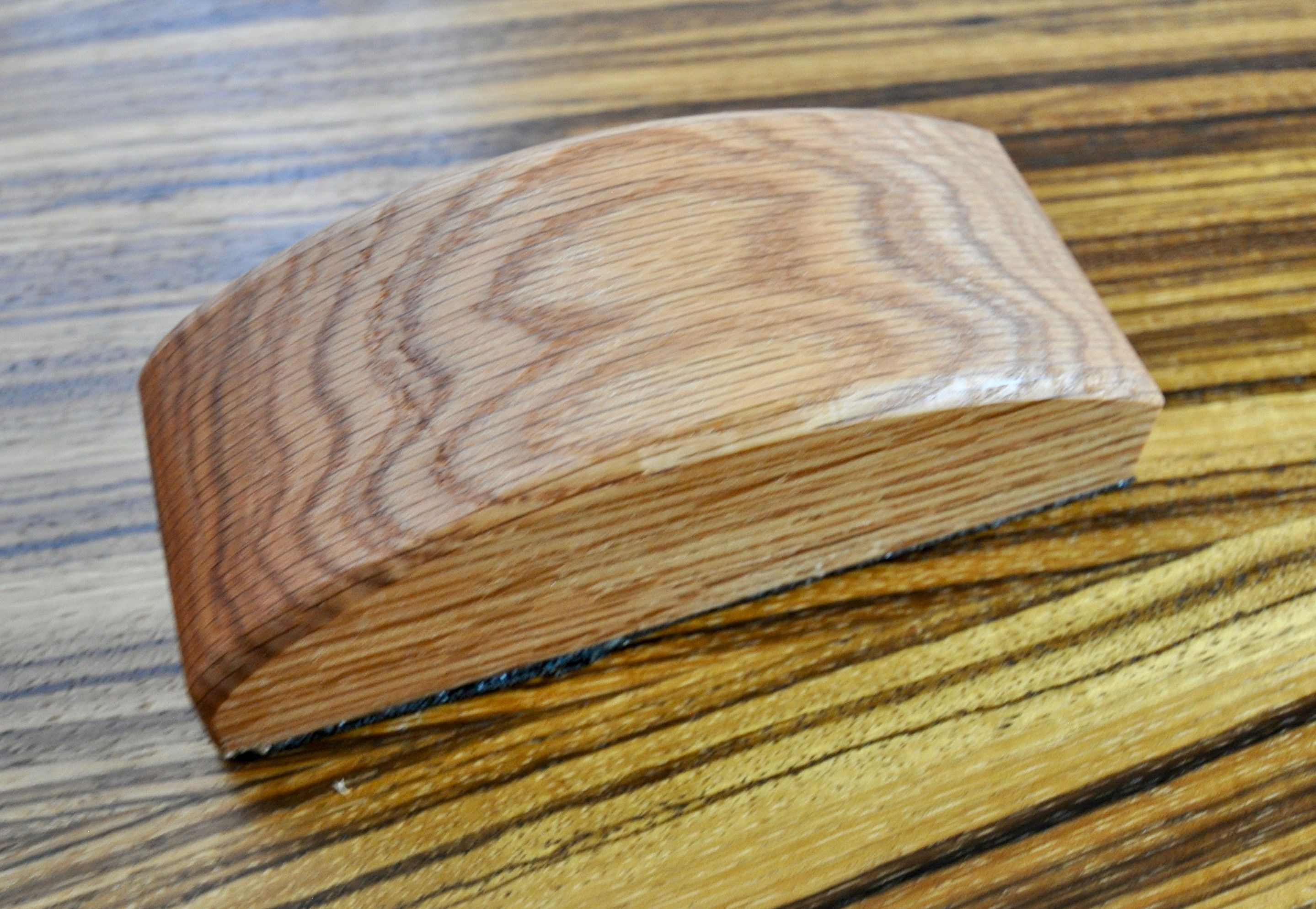 Wood Sanding Block Handcrafted From Red Oak Designed For Hook Loop Sandpaper Approximate Dimension Woodworking Projects Diy Diy Woodworking Sanding Block