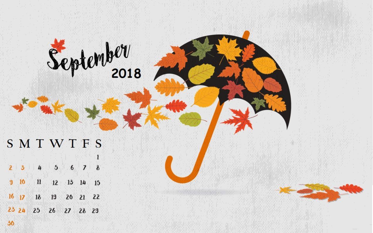 Cute September 2018 Calendar Wallpapers Calendar Wallpaper Desktop Calendar September Calendar