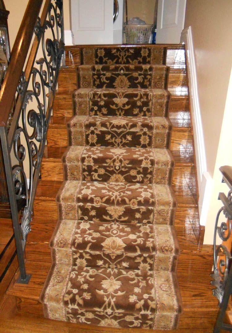Stair Runners Home Depot Stair Runner Step Runner Step | Wayfair Stair Carpet Runners | Textured Carpet | Rosalind Wheeler | Staircase Makeover | Treads Carpet | Brown Beige