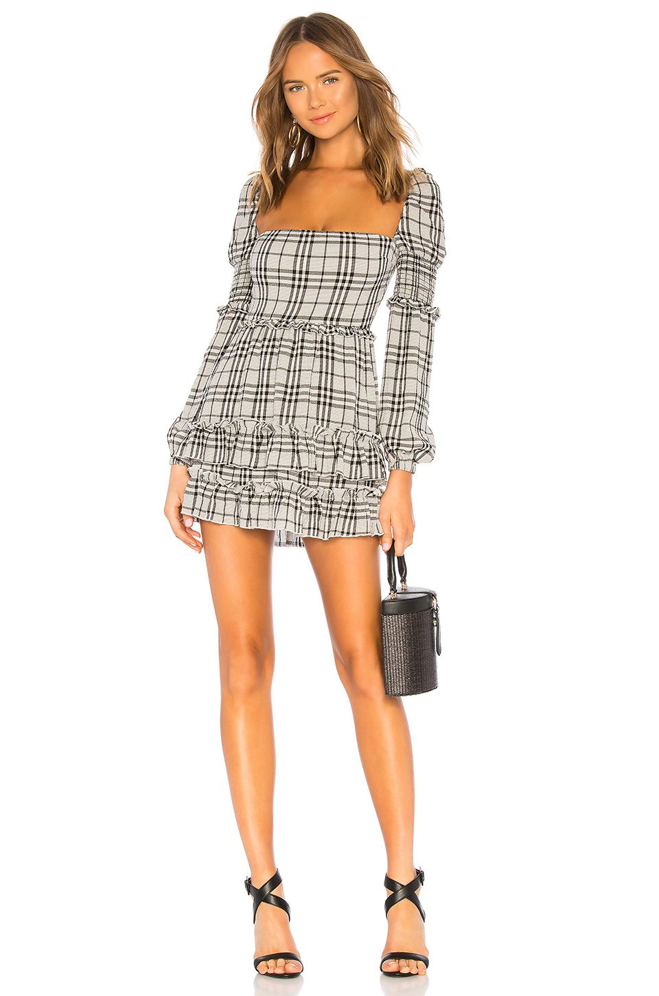 4acdbe52dad5 MAJORELLE Clarise Mini Dress in Black Plaid | Fashion | Dresses ...