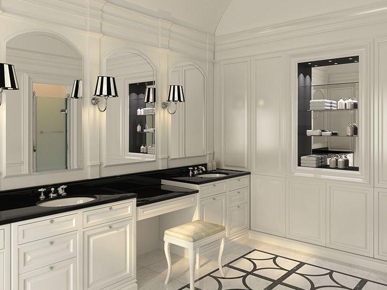 Floor and make up.Bath Couture, Devon&Devon's interpretation of the bespoke bathroom