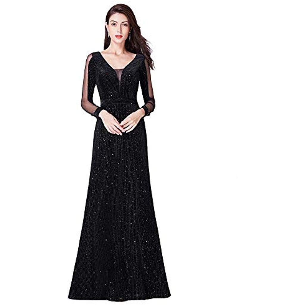 Photo of Ever-Pretty Evening Dress V-Neck Flakes Bright Woman L …
