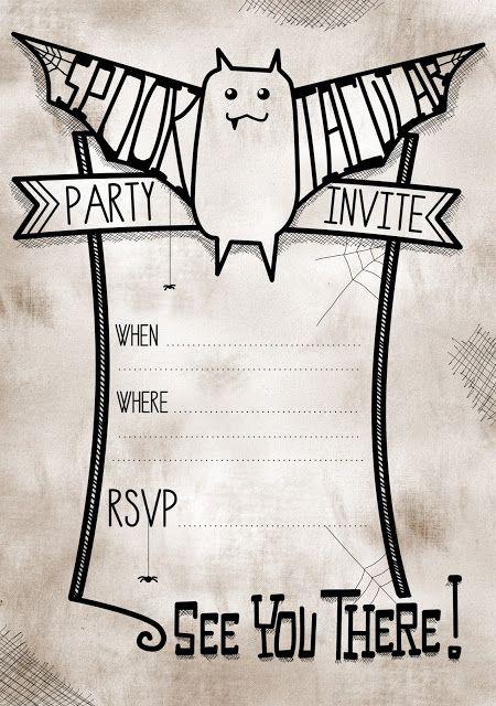cute halloween party invites printable free halloween ideas