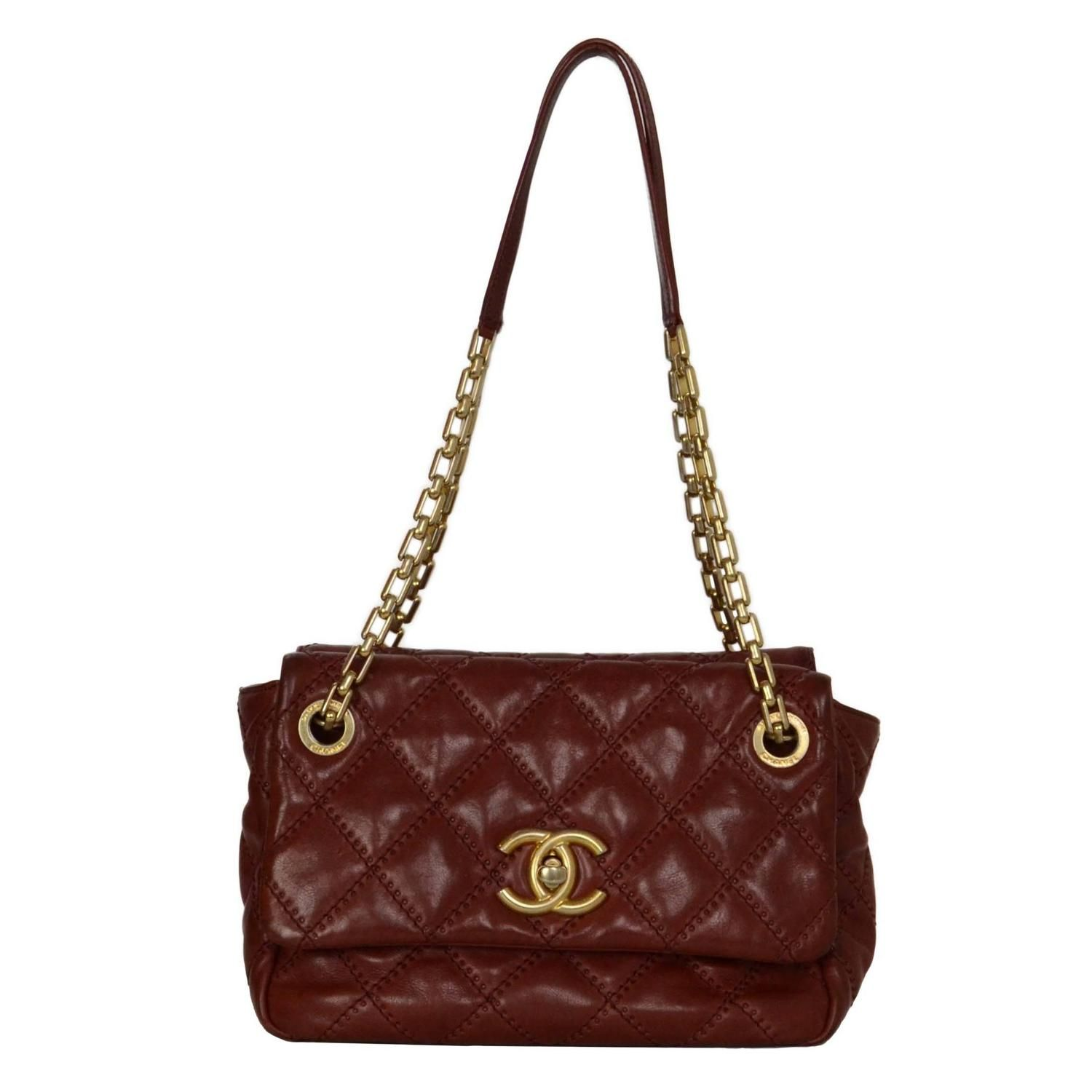 c6400e95e243 Chanel Burgundy Quilted Leather Bag GHW