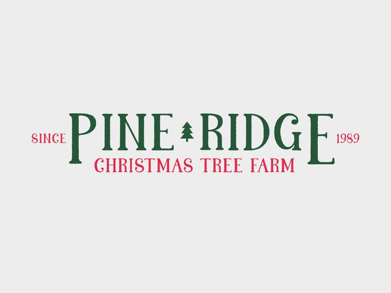 Pine Ridge Logo   Pine ridge, Christmas tree farm, Pine