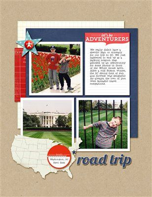 Road Trip - Club CK - The Online Community and Scrapbook Club from Creating Keepsakes