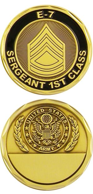 Army Sergeant First Class Challenge Coin