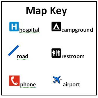 An example map key | Student Community Mapping _EDUC 312