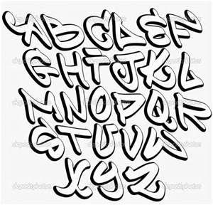 Block Grafitti Fonts Alphabet Letters A Z