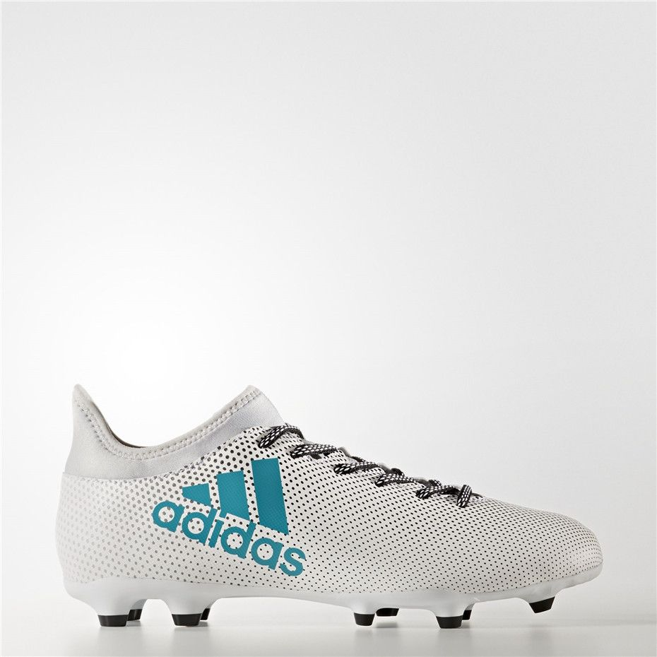 Adidas X 17.3 Firm Ground Cleats (Running White Ftw / Energy Blue / Clear  Grey