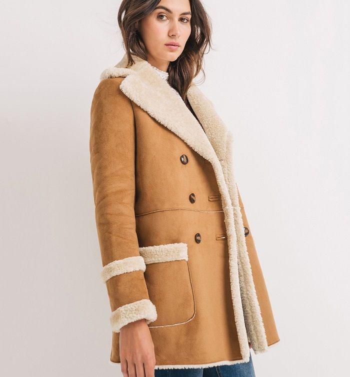 manteau fausse fourrure promod caramel mode femme. Black Bedroom Furniture Sets. Home Design Ideas