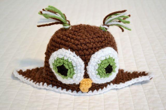 Crochet Owl Beanie Pattern - Free!