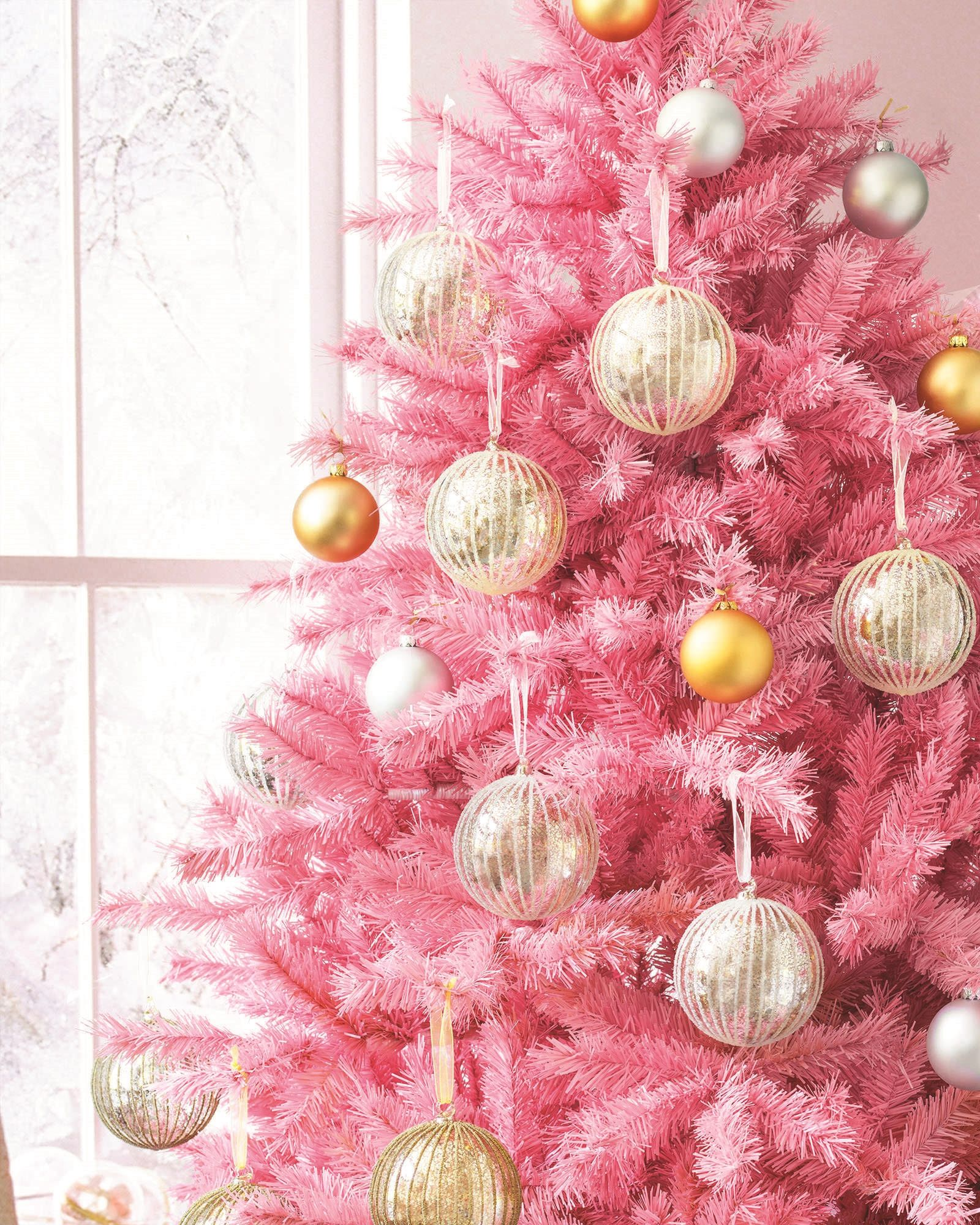 Pretty in Pink Tree | Christmas wallpaper, Pink christmas and ...