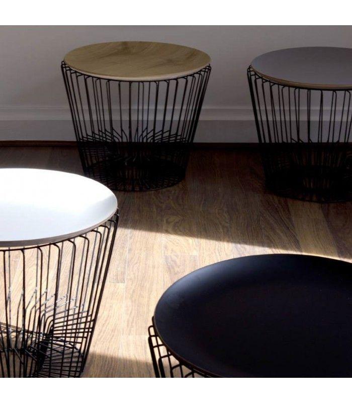 Set de 2 tables basses gigognes en bois et m tal noir design en 2019 tables basses tables - Table haute et basse ...