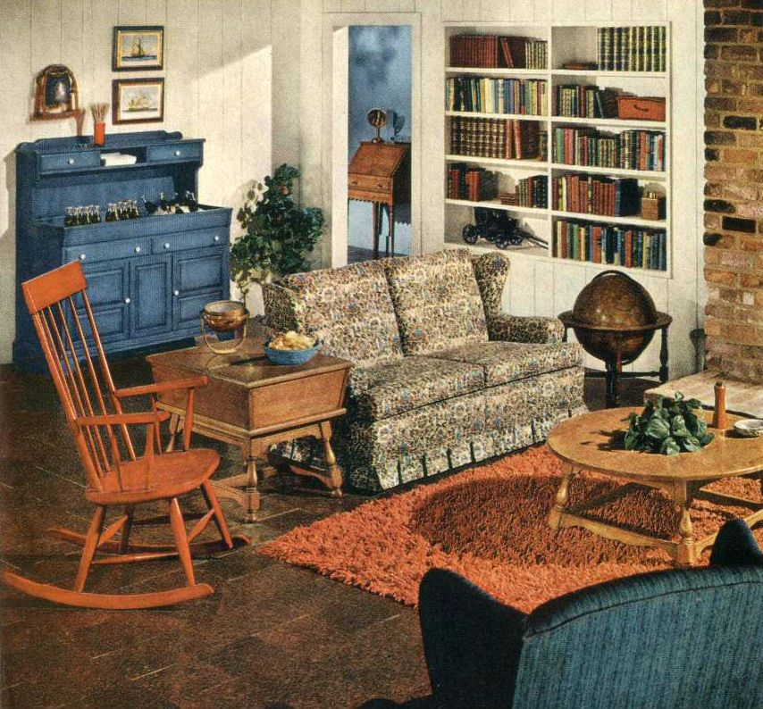 An Traditional Style American Country Interior Early American