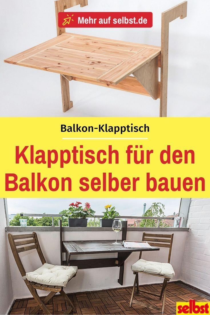 Photo of Balkon-Klapptisch  | selbst.de