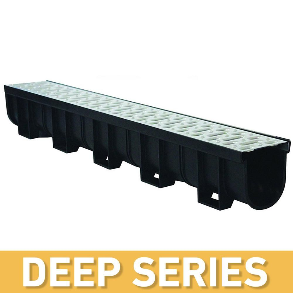 U S Trench Drain Deep Series 5 4 In W X 5 4 In D X 39 4 In L