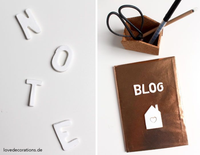DIY Fimo Buchstaben für Notizbücher // DIY Fimo Letters for Notebooks