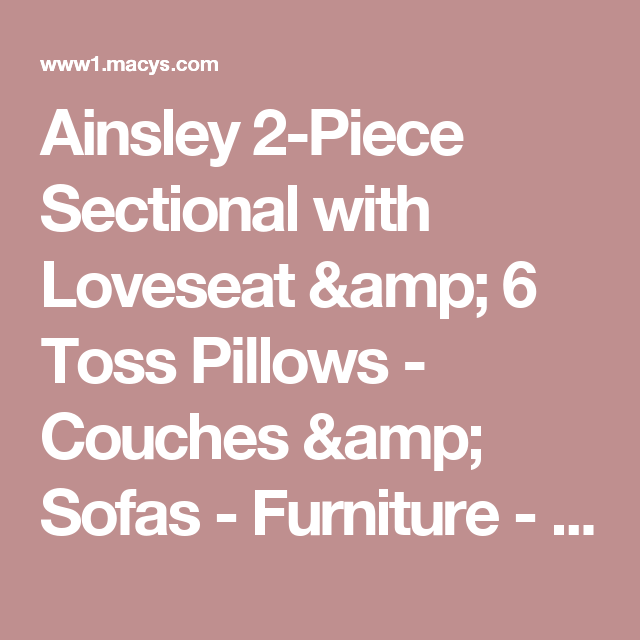 Awe Inspiring Ainsley 2 Piece Sectional With Loveseat 6 Toss Pillows Pabps2019 Chair Design Images Pabps2019Com