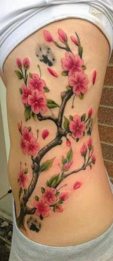 cherry blossom family tree tattoo