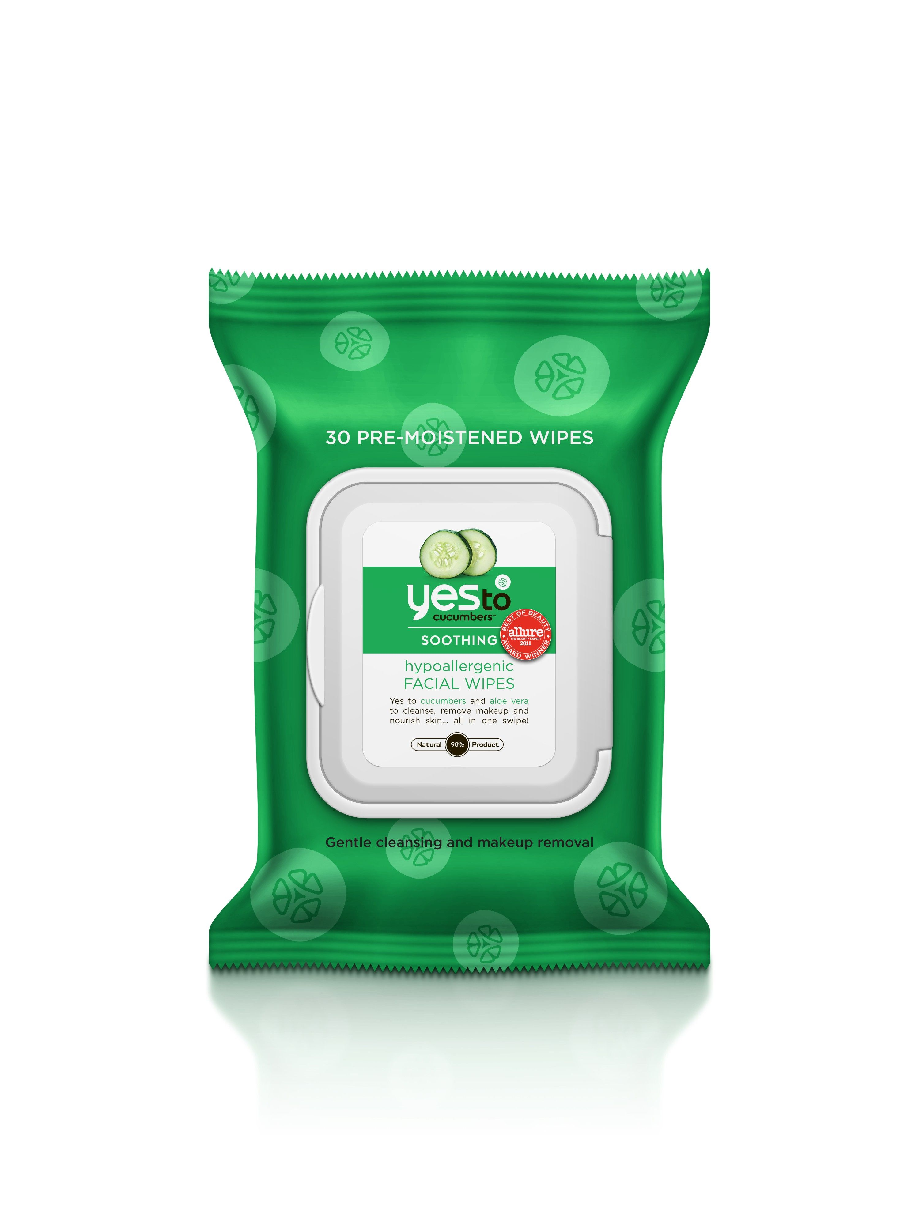 Yes to Cucumber Facial Towelettes in Travel Size from