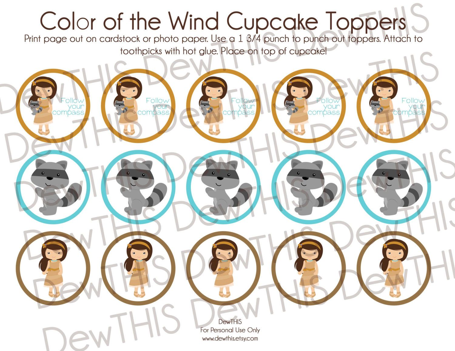 Digital Download 'Color of the Wind' DewTHIS Cupcake by DewTHIS