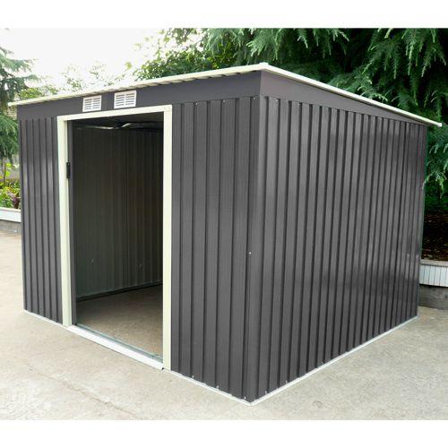 Abri De Jardin En Metal Adossable 6 5 M Gris Anthracite Kit D