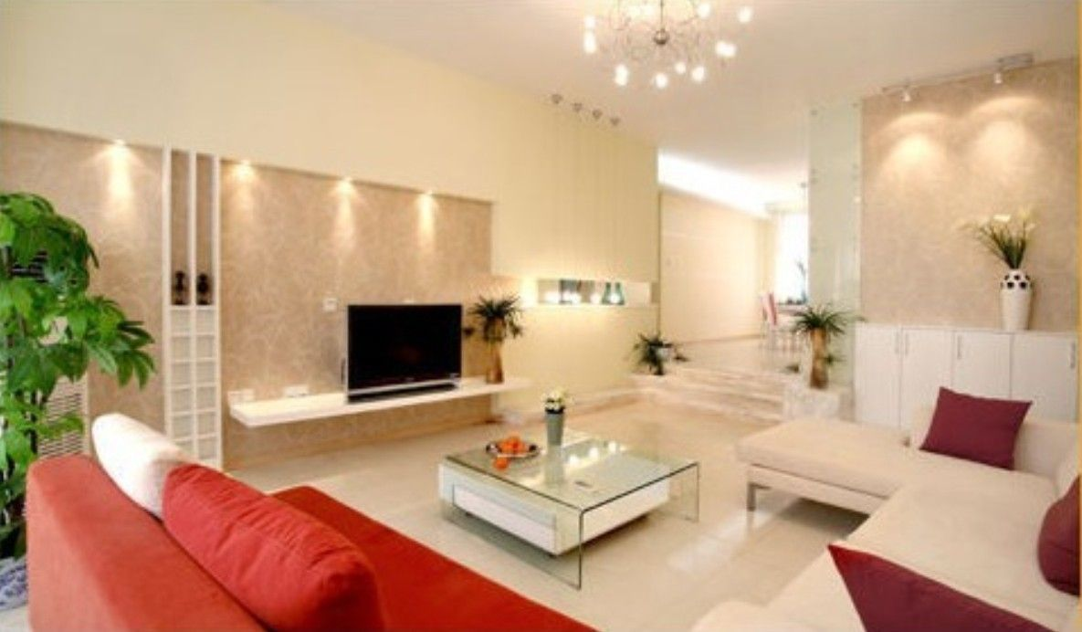 orange and grey living rooms | living room white and grey wall ...