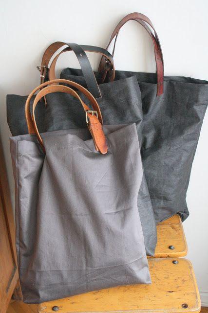 Belt handle bags   |   Valkoista pellavaa