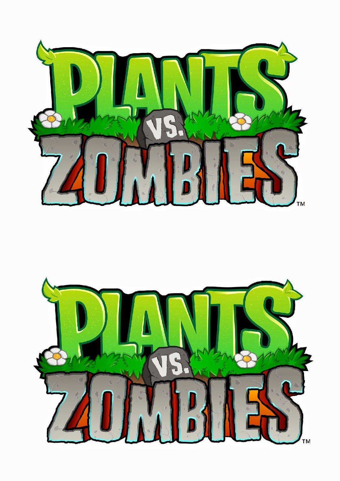Tarta Plantas Contra Zombies Paso A Paso Logo Plantas Contra