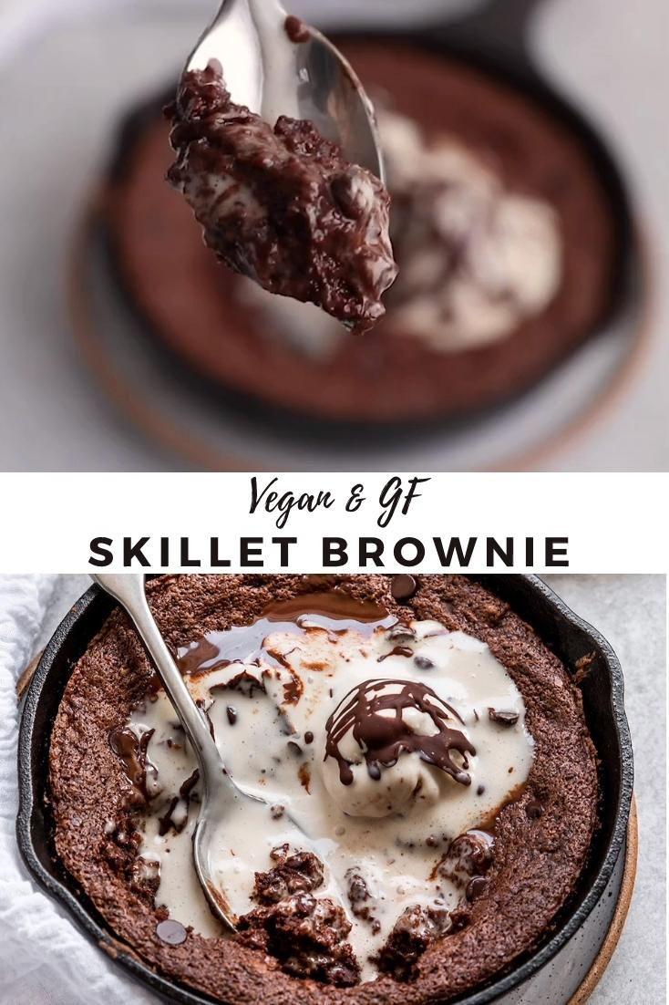 Vegan & GF Skillet Brownie