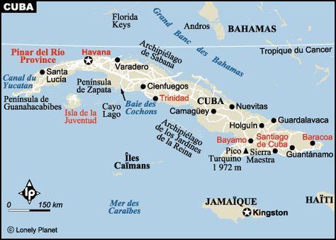 Carte de Cuba | Carte cuba, Cuba tourisme et Cuba
